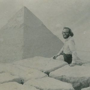 DAC sitting on top of the great pyramid of Cheops in 1977.
